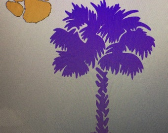 Palmetto Tree Iron on Decal  / decal / palmetto tree decal / palmetto tree