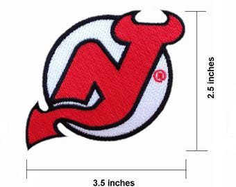 "New Jersey Devils 3.5"" Logo Embroidered Iron On Patch."