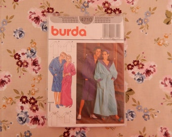 Men's and Ladies Robe Pattern - Burda 4710