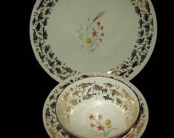 Vintage bavarian porcelain trio