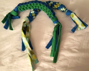 Braided Dog Tug Toy, Dog Toy, Durable Dog Toy, 100% Handmade