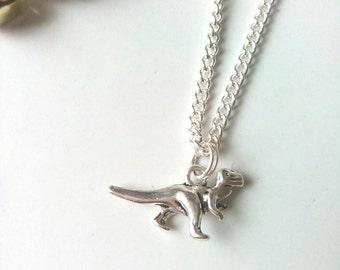 Girls Dinosaur Necklace, Charm Necklace, Dinosaur Jewelry, Cute Necklace,Dinosaurs For Girls