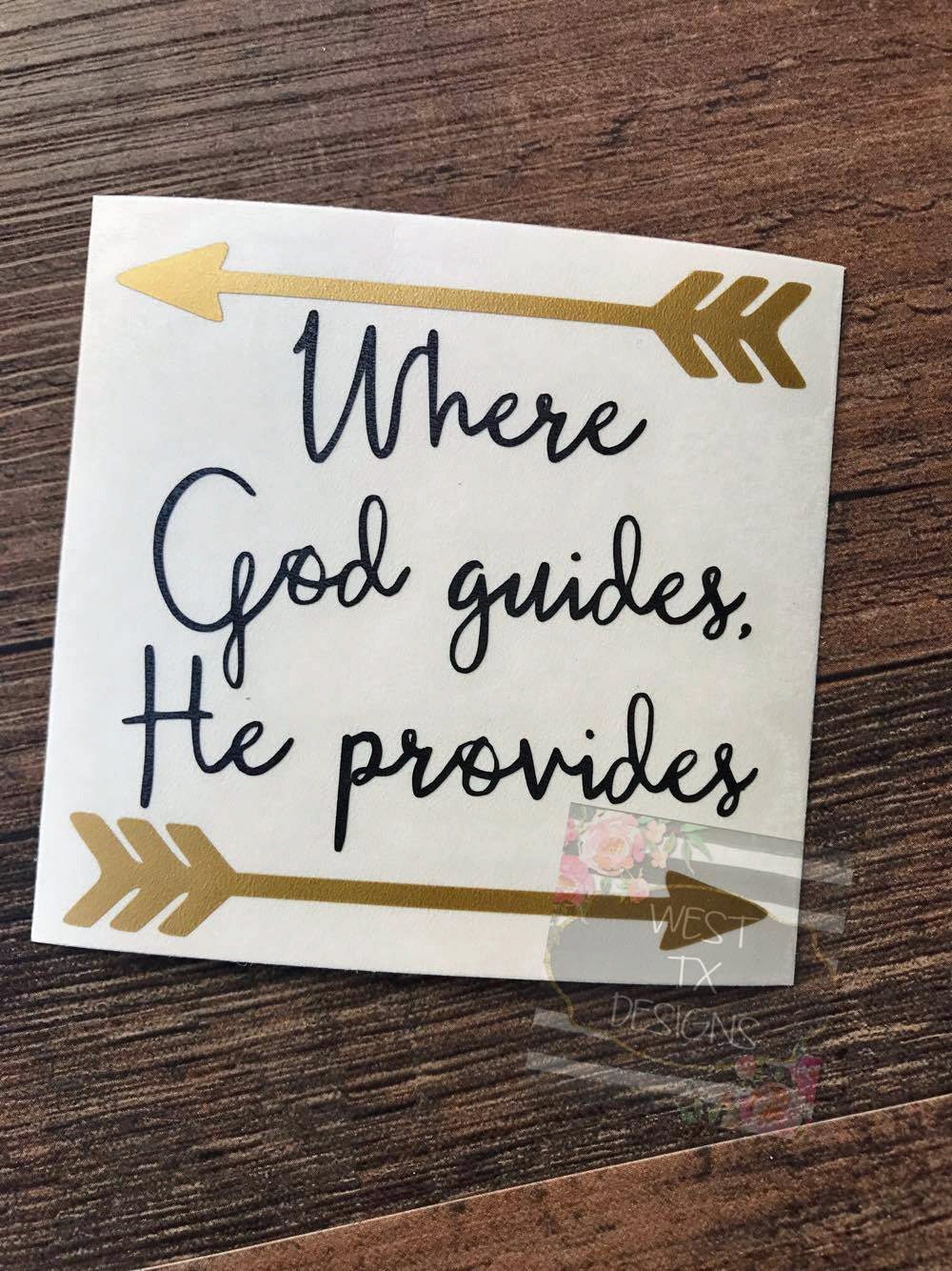 Where God Guides He Provides Christian Quote Christian