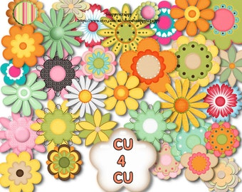 Flower Clipart / Digital Flower Collection / CU4CU