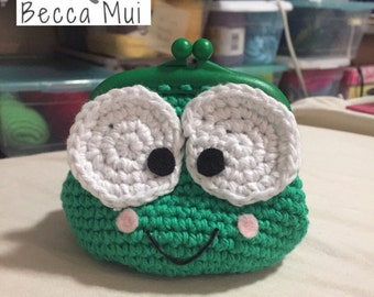 Crochet Keropi Coin Purse