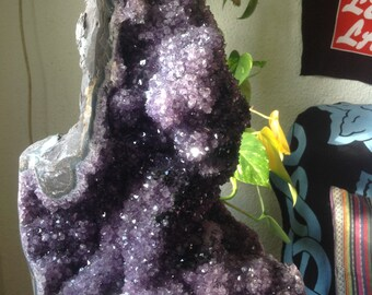 RARE HUGE Amethyst cactus, extraordinary Amethyst with advanced calacite (dog tooth) * COLLECTION. *