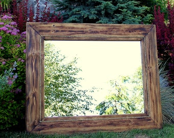Lodge Style Rustic Hand Crafted Mirror