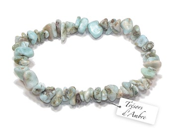 Bracelet Baroque in Larimar - natural stone - Lithotherapy Reiki - calm and balance