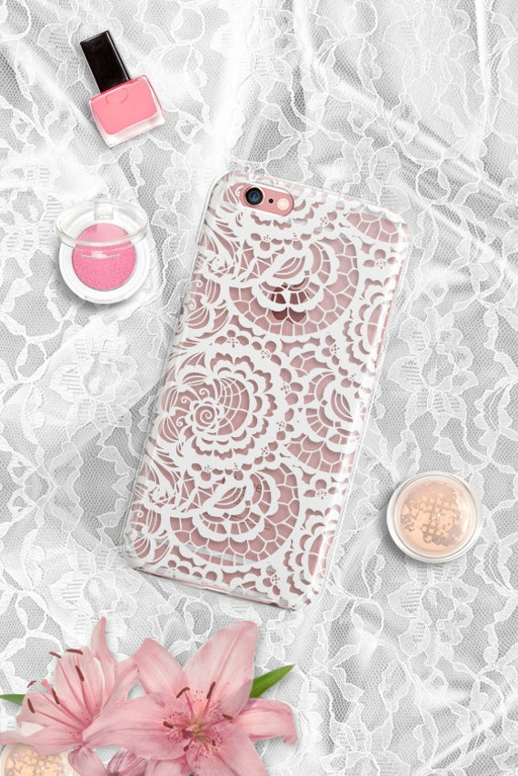 Clear Rubber iPhone 7 Case Floral iPhone 7 Plus Case Clear iPhone SE Case LACE iPhone 6 Plus Case iPhone 6 Case iPhone 6S Case Clear Note 5