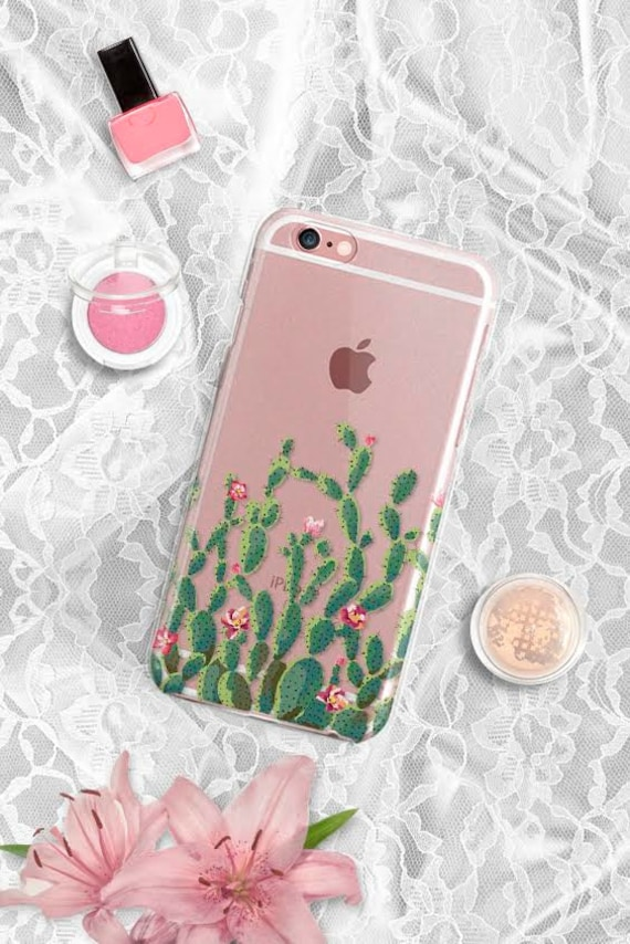 Samsung Galaxy S7 Case Clear Samsung Galaxy S8 Case Cactus iPhone 6 Plus Case Clear Phone 6S Plus case iPhone 6 Case Clear LG G5 Case