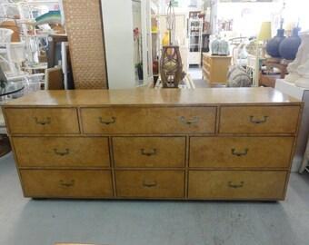 Vintage Burlwood Widdicomb Dresser Palm Beach Regencyc