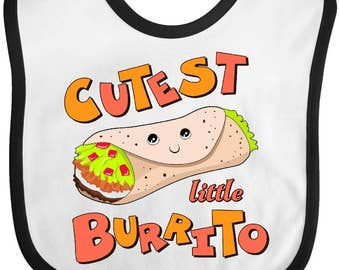 Cutest Little Burrito Baby Bib by Inktastic