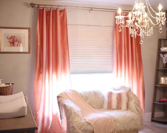 Coral Curtains Etsy