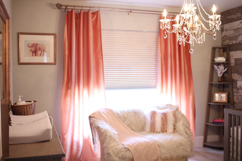 Blush Pink Silk Curtain Taffeta Silk Window Dressing