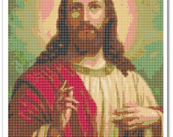 Jesus Cross Stitch Pattern, Jesus Home decor x stitch pattern, Cross stitch Embroidery, Embroidery pattern