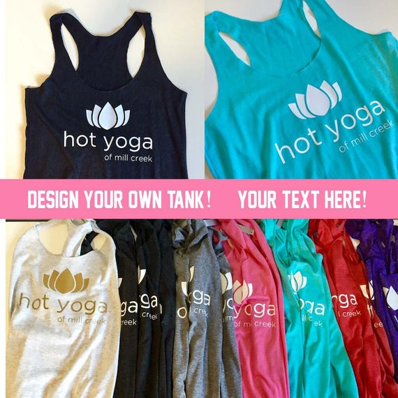 Custom TShirts- Design your own tank! YOUR TEXT HERE- Yoga Tank, Yoga Shirt, Bachelorette Party Shirts, Bachelorette Shirts, Squad Shirts
