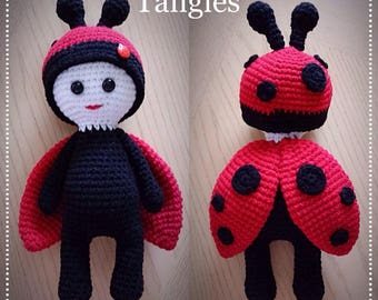 "Lady Bug * 12-13"" Doll * Ladybug Amigurumi * Ready To Ship"