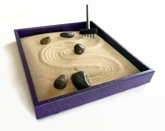 Zen Gifts Purple Decor Meditation Sand Garden