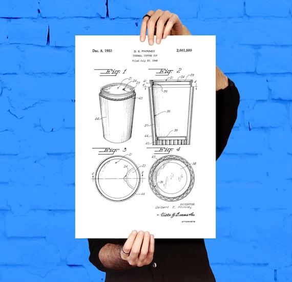 Coffee cup patent coffee cup poster coffee cup blueprint like this item malvernweather Choice Image