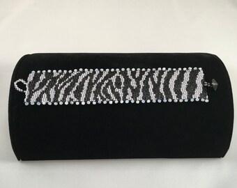 Zebra Peyote Stitch Bracelet