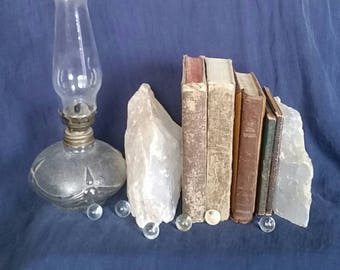 Cleansing Crystal Home DECOR // Raw Selenite Crystal Bookends // Metaphysical Stones // White Healing Selenite for Balance & Mental Clarity