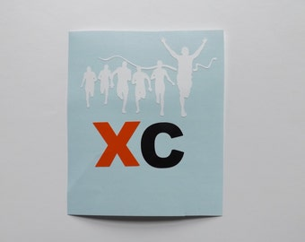 Cross Country Running decal-running decal-Runners-sports decal-school sport decal-customize decal