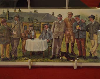 Nine Golfers Birthday Card
