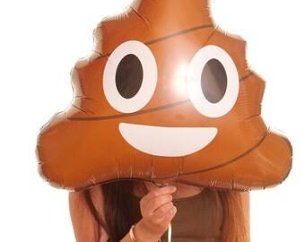 Poop Emoji Foil Balloon