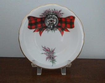 "Monteiths Tartan LTD ""Cameron""  Royal Grafton Fine Bone China Plate,  ""Cameron"" Coat of Arms Plate,  Cameron Family Crest Plate"