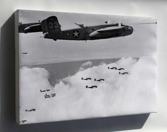 Canvas 24x36; B-25C Mitchell, Martin Baltimore Bombers North Africa 1943