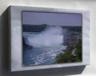 Canvas 24x36; Niagara Falls And Maid Of The Mist
