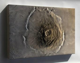 Canvas 24x36; Olympus Mons