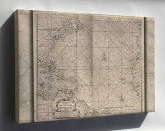 Canvas 24x36; General Chart Of West Indies Cuba Florida 1700