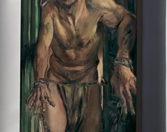 Canvas 24x36; The Blinded Samson By Lovis Corinth