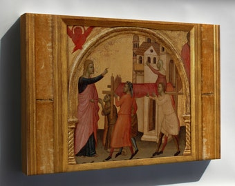 Canvas 16x24; 10 Allegretto Nuzi, The Resurrection Of Drusiana, Ca. 1370
