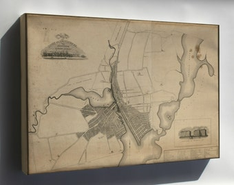 Canvas 16x24; Map Of The Town Of Providence Rhode Island 1823