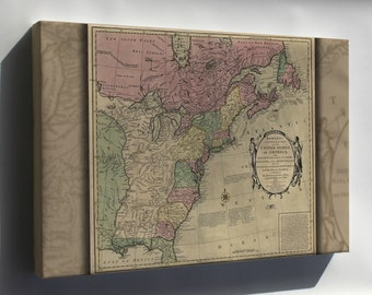 Canvas 16x24; Bowles'S Map Of The United States Of America 1783