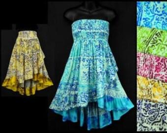 Sun dress / Bloom Dress  /  cover-up/ resort wear /beach wear/Hippy/festival/swim wear/ resort wear/dress