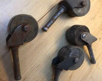 Firniture wooden wheels hardware
