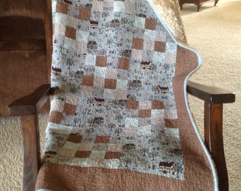 Throw quilt, minky throw, minky quilt, home decor,housewarming gift, preshrunk 67 x 45