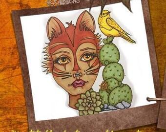 Digital stamp colouring image - Chloe . jpeg / png