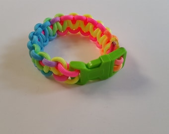 Rainbow Corded Bracelet