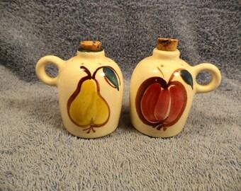 Fruit Decorated Jug Salt And Pepper Shaker