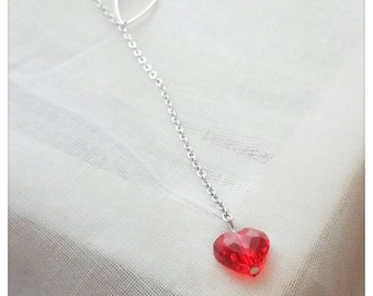 "Lasso ""Crystal Heart"" necklace"