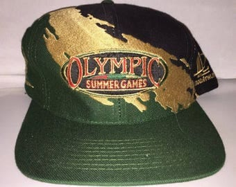 Vintage 1996 Atlanta Olympics Snapback hat cap rare 90s Logo Athletic Splash usa basketball dream team jordan