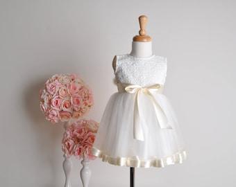 lace Girl dress wedding bridal recital children