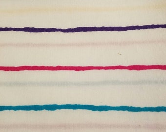 """Vintage tandler textiles multicolor striped cotton shirting fabric 3.5 yards 45"""" wide VF2"""