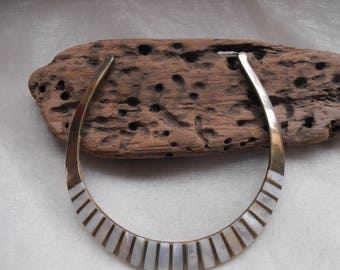 lovely vintage collar set with mother of pearl pieces