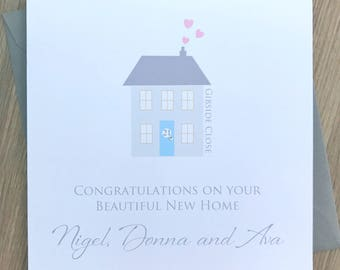 Personalised New Home Card - Personalised New House Card - Personalised Moving House Card