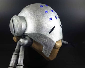 Zenyatta Overwatch Cosplay costume head with LED lights. Handmade Adult LARP robot helmet. Adult size. Omnic robot monk headpiece.